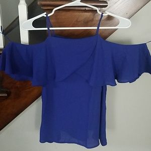 Elodie XS royal blue off the shoulder blouse